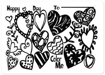 Color Me - Doodle Hearts