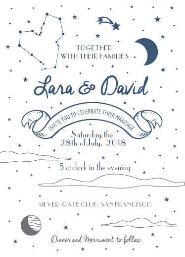 wedding invitations - Magical space by Deyas Paper co.