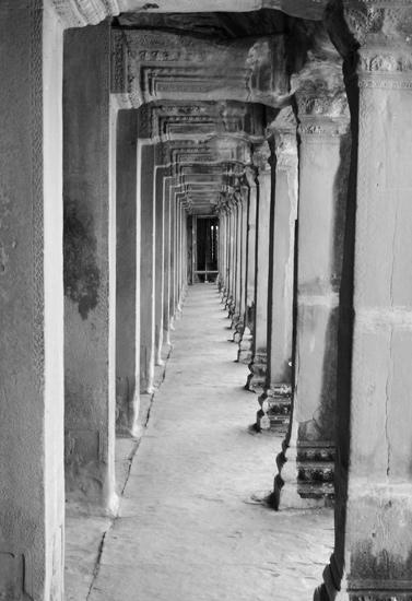 art prints - Angkor Hallway by Katharine Watson