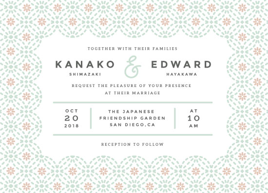 wedding invitations - Flowery Stitch by kukkiilabs