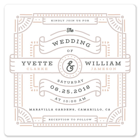 wedding invitations - Lines & Ribbons by kukkiilabs
