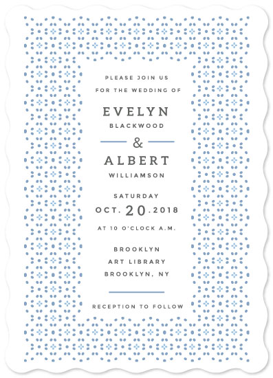 wedding invitations - Tiled Dots by kukkiilabs