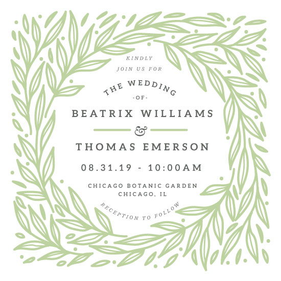 wedding invitations - Foliage by kukkiilabs