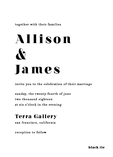 wedding invitations - Modern Love by AS Designs