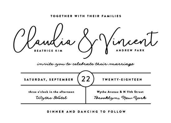 wedding invitations - chic type by Olivia Raufman