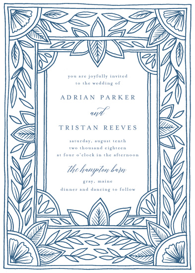 wedding invitations - Handmade Ornate Frame by Katharine Watson