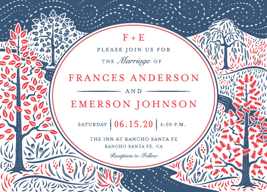 wedding invitations - Into the Woods by Paper Sun Studio