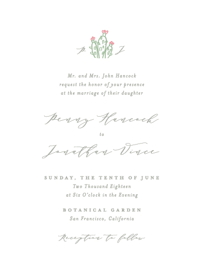 wedding invitations - Simple Succulent by AS Designs