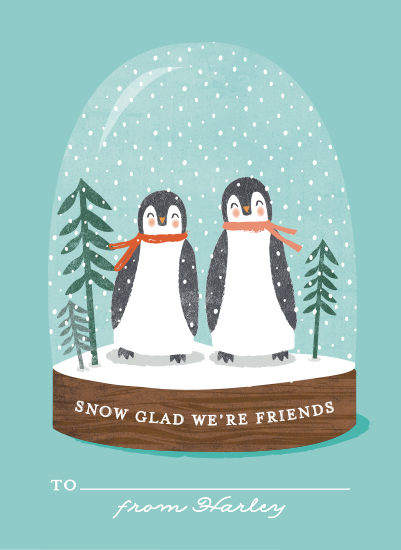 valentine's day - little penguins snowglobe by Karidy Walker