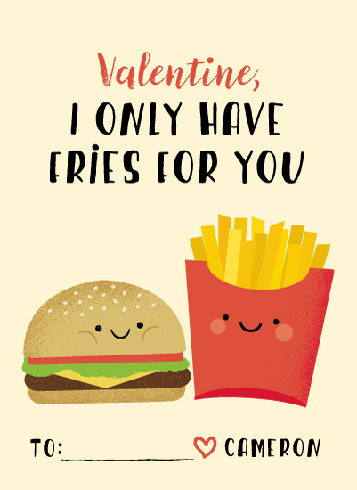 valentine's day - Fries with that? by Anne Holmquist