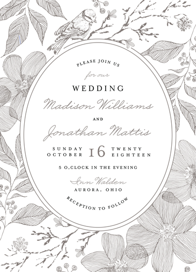 wedding invitations - Garden Paradise by Chris Griffith