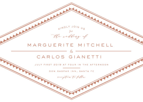 wedding invitations - Terra Cotta by Little Words Design
