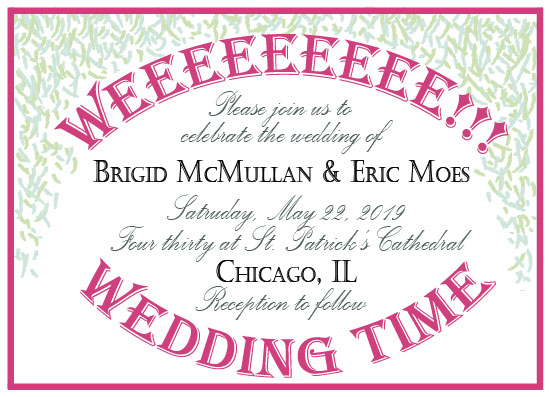 wedding invitations - Weeeee!!! Wedding Time by Weee Designs