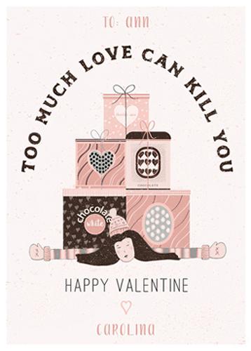valentine's day - TOO MUCH LOVE... by Agata Wojakowska