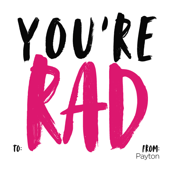 valentine's day - You're Rad by Jenna Gibson