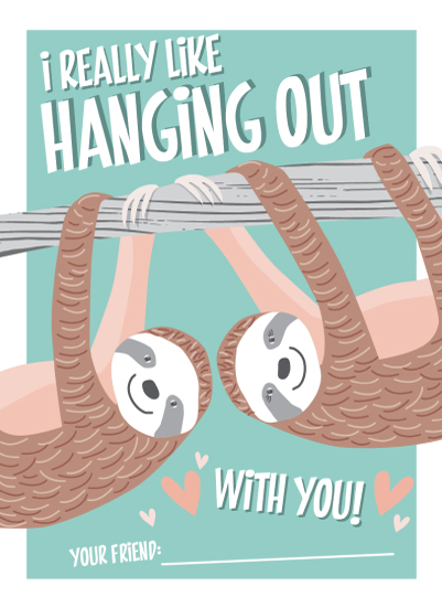 valentine's day - Sloths Hanging Out by Suzanne Green