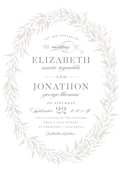 wedding invitations - graceful by Carolyn Nicks