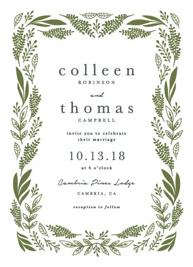wedding invitations - spring garland by Olivia Raufman
