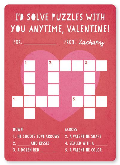 valentine's day - Valentine Crossword by Hooray Creative