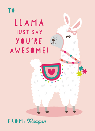 Valentine S Day Llama Love At Minted Com