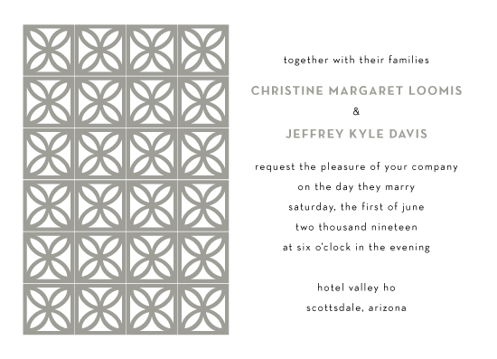wedding invitations - Breeze Blocks by kelly ashworth