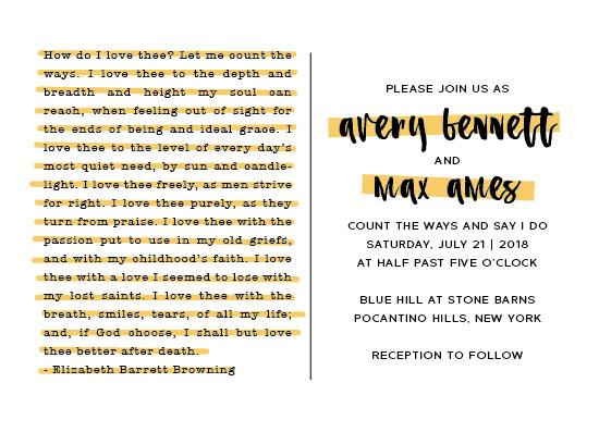 wedding invitations - How do I love thee by kelly ashworth
