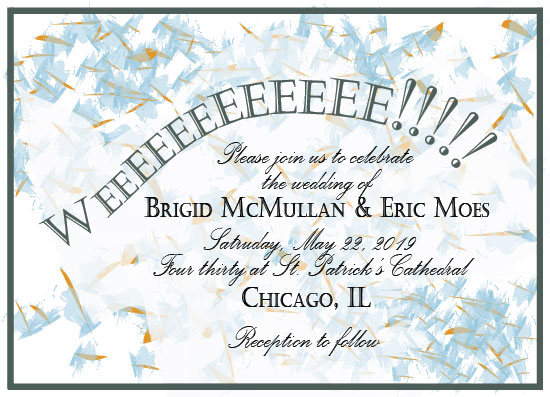 wedding invitations - Weeeee!!! Wedding Confetti Chop 5 by Weee Designs