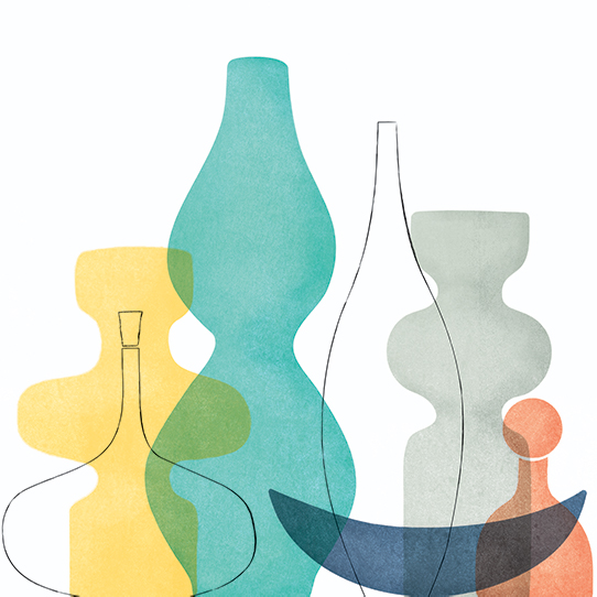 art prints - Midcentury Vessels by Marie Hermansson