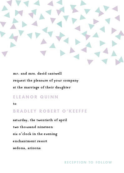 wedding invitations - Triangle Confetti by kelly ashworth