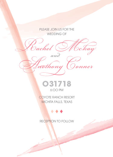 wedding invitations - Watercolor Strokes by Cecilia Oh