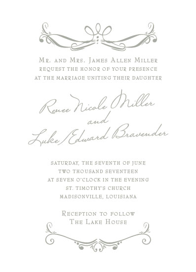 wedding invitations - A Modern Classic by Jenny Colomb