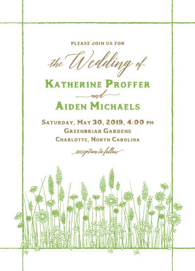 wedding invitations - Wildflower Meadow by Gigi and Mae Studios