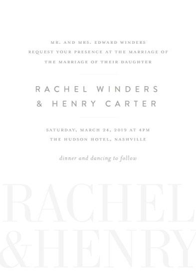 wedding invitations - Shadows by Jessica Williams