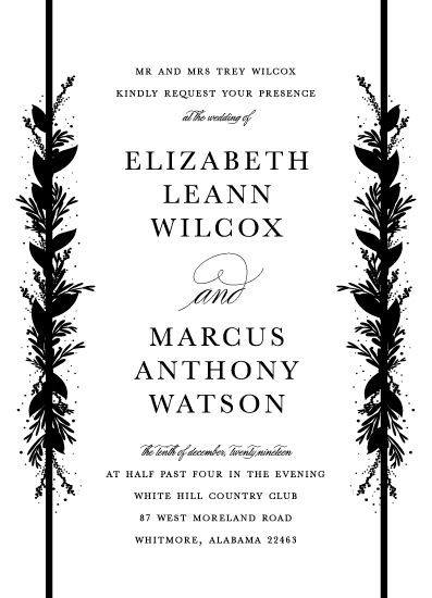wedding invitations - Floral Stripes by Bethany Anderson
