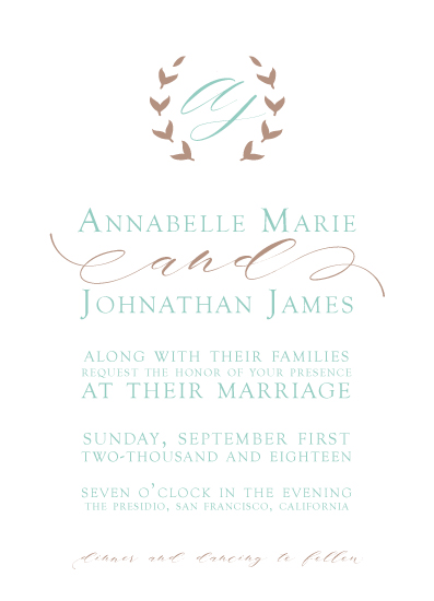 wedding invitations - Moniker by Salt and Light