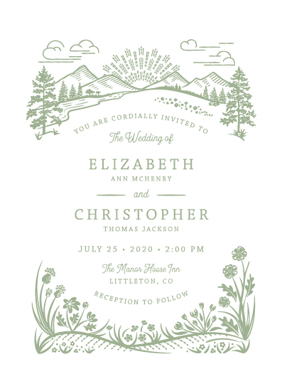 wedding invitations - On the Horizon by Paper Sun Studio