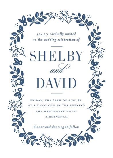 wedding invitations - Delicate Foliage by Jessica Williams