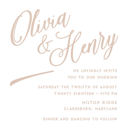 wedding invitations - Just a dash. by John Henry