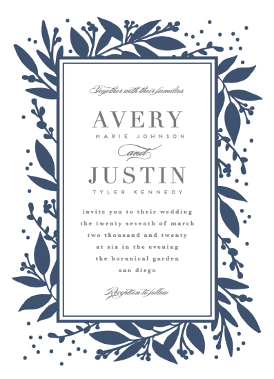 wedding invitations - Botanically yours by Creo Study
