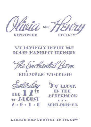 wedding invitations - Swanky Shindig by John Henry
