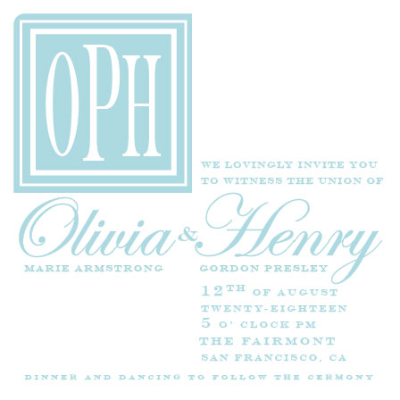 wedding invitations - A Square Declare by John Henry