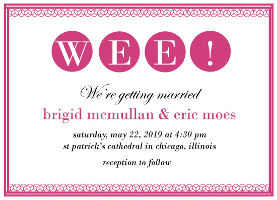 wedding invitations - Wee! Wedding Preppy by Weee Designs