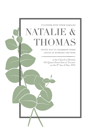 wedding invitations - Minimalist Botanical by Julia Tincombe