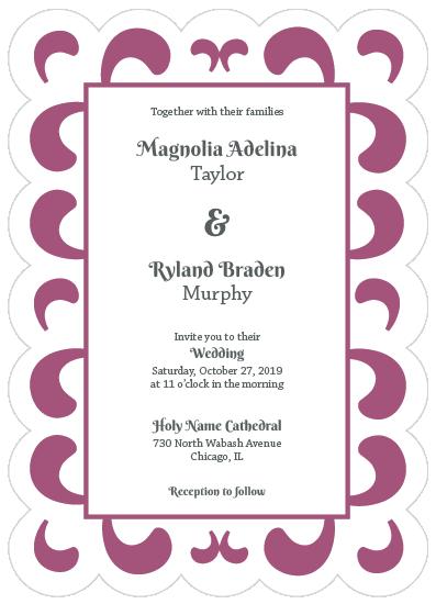 wedding invitations - Swash by MoMint