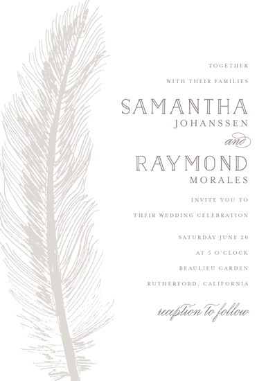wedding invitations - Feather Sensation by Chris Griffith