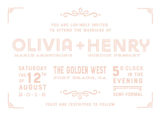 wedding invitations - Under the boardwalk by John Henry