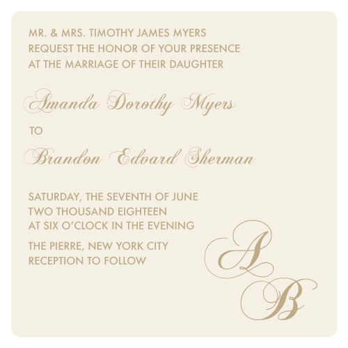 wedding invitations - Modern Monogram by Aleksandra Vujkov