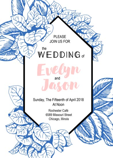 wedding invitations - Blue Garden by NelliK