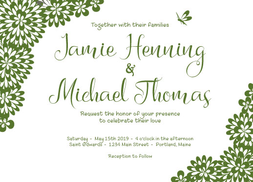 wedding invitations - Mum's Garden by Theresa Dryer