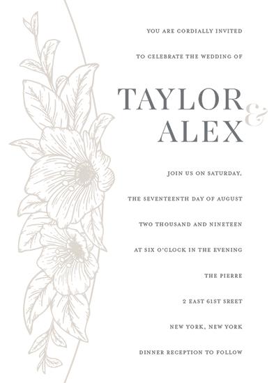 wedding invitations - Engraved Blooms by GeekInk Design